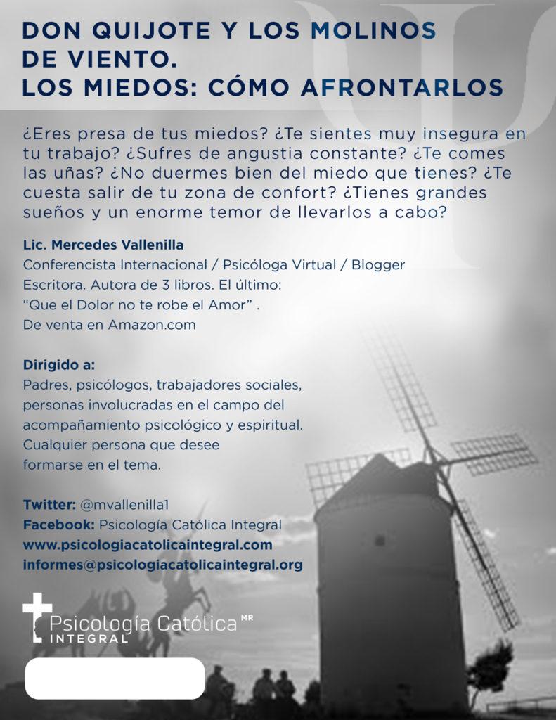 Don Quijote y los molinos de viento. Los miedos: Cómo afrontarlos
