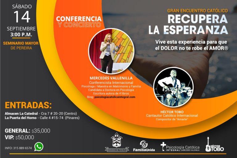 Conferencia de Mercedes Vallenilla en Pereira, Colombia.